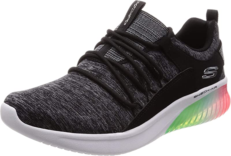 Skechers Skech Air Ultra Flex Sneakers Damen Grau Schwarz/Bunt