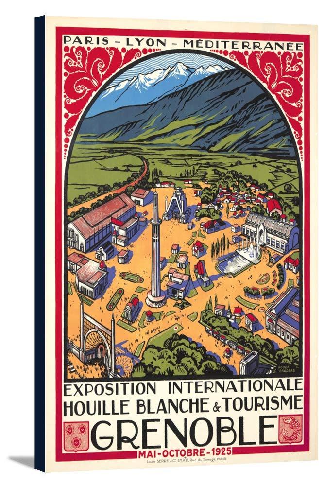 グルノーブル – Exposition Internationale Houille Blancheポスター(アーティスト: Broders , Roger )フランスC。1925 24 x 36 Gallery Canvas LANT-3P-SC-64649-24x36 B0184B3TRC  24 x 36 Gallery Canvas