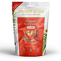 Amazin' Graze Coconut Curry Lime Nut Mix, Coconut Curry, 100 g