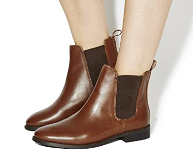 Office Bramble Leather Chelsea Ankle Boots SGlkEGY