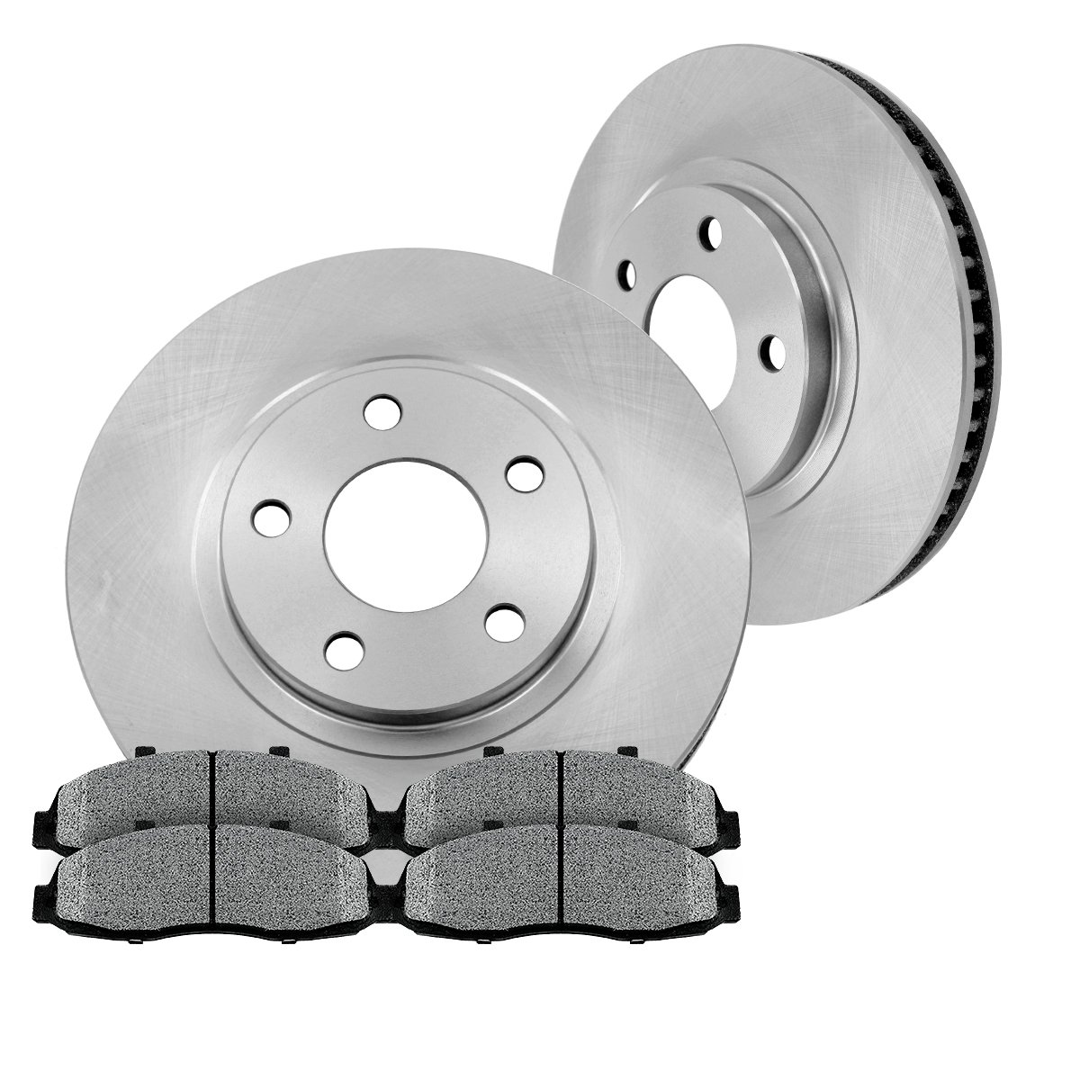 CK005058 FRONT 294 mm Premium Grade OE [2] Brake Rotors + [4] Metallic Brake Pads Kit