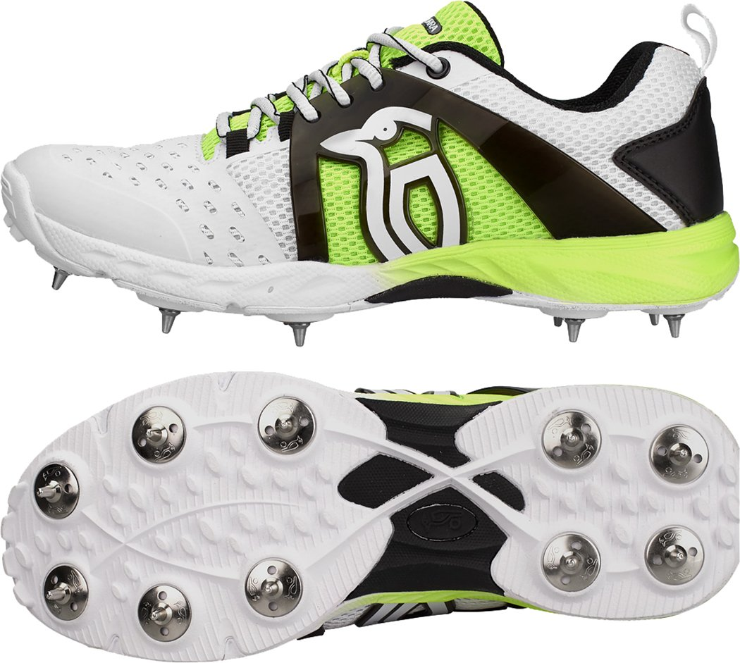 Kookaburra KSC 2000 Spike Cricket Shoes Colour White/Fluo Yellow Only Cricket