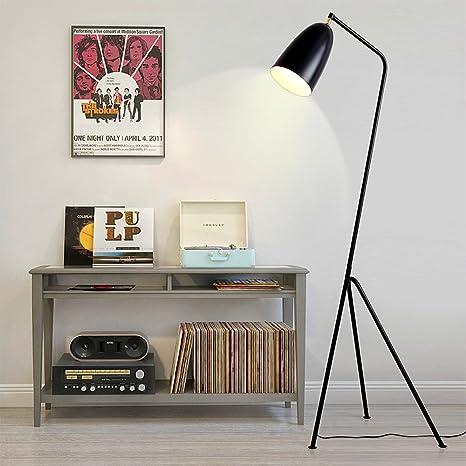 ELINKUME - Lámpara de pie trípode tipo Diseño Moderno Negro ...