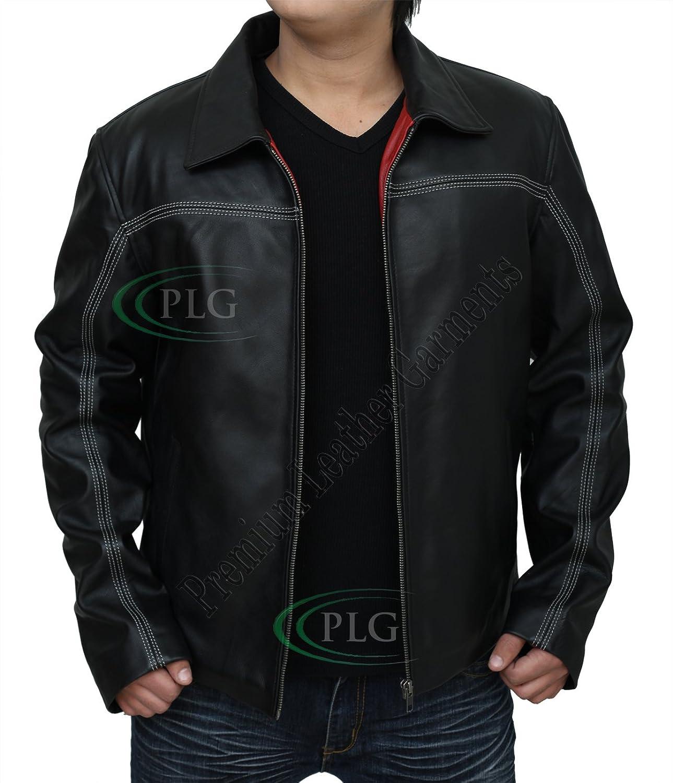 Mens 'LAYER CAKE' Mr X Daniel Black Retro Slim Fit Leather Jacket ?BEST SELLER?