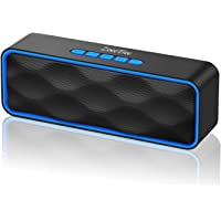 [Genuine] ZoeeTree S1 Wireless Bluetooth Speaker, Outdoor Portable Stereo Speaker with HD Audio and Enhanced Bass, Built-In Dual Driver Speakerphone, Bluetooth 4.2+EDR, Handsfree Calling, TF Card Slot
