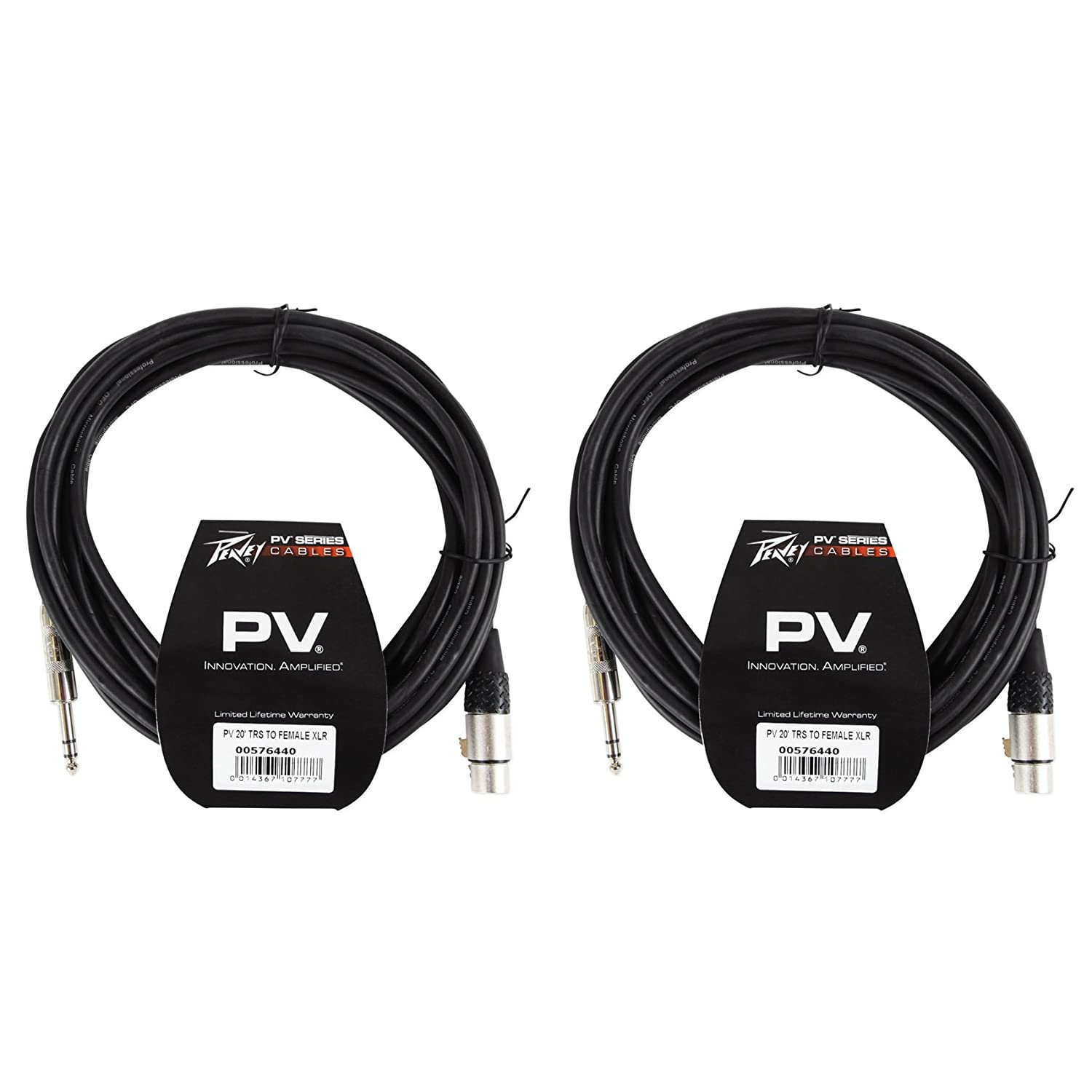 2 New Peavey PV 20/' XLR Female to Male Low Z Mic Cables-100 /% Copper//Top Quality