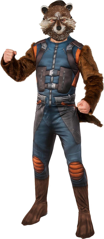 Amazon.com: Rubies Guardianes Deluxe Rocket mapache adulto ...