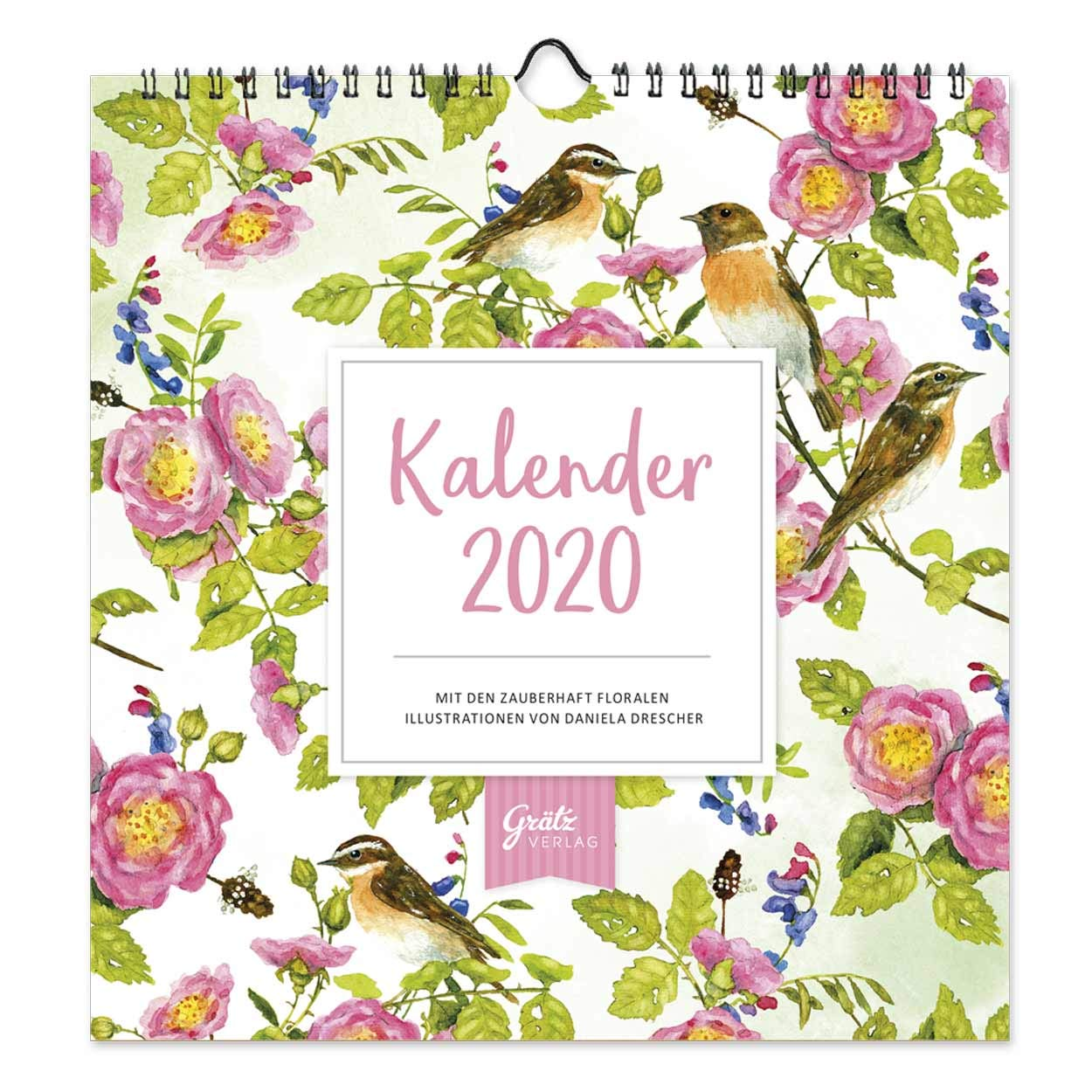 Dekorativer Wandkalender 2020 Praktischer Monatsplaner Zum Aufhängen Mit Floralen Motiven 12 Monatsseiten Mit Extra Viel Platz Zum Termine Eintragen