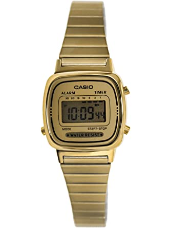 fed02d651 Buy Casio Women's LA670WGA-9 Gold Stainless-Steel Quartz Watch with ...