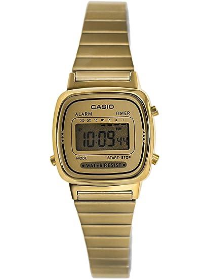 fba97b9a0335 CASIO Reloj Digital para Mujer de Automático con Correa en Acero Inoxidable  con tonalidades Doradas LA-670WGA-9  Casio  Amazon.es  Relojes