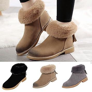 Amlaiworld Botas de Invierno de Mujer de Moda Botines de Nieve Botas De Martin Zapatos Otoño