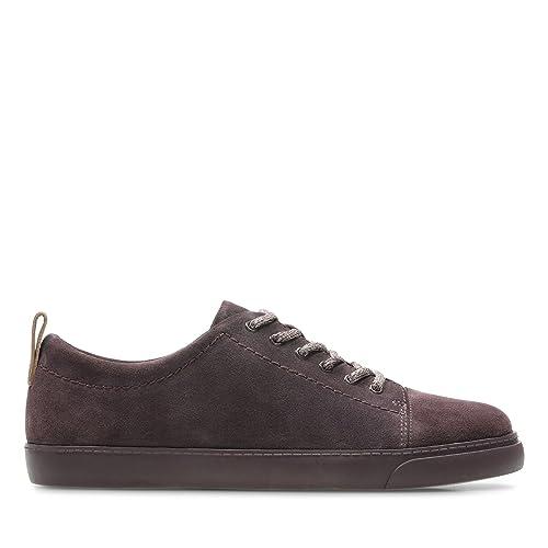 Clarks - Zapatos de Cordones de Cuero para Mujer Morado Morado: Amazon.es: Zapatos y complementos
