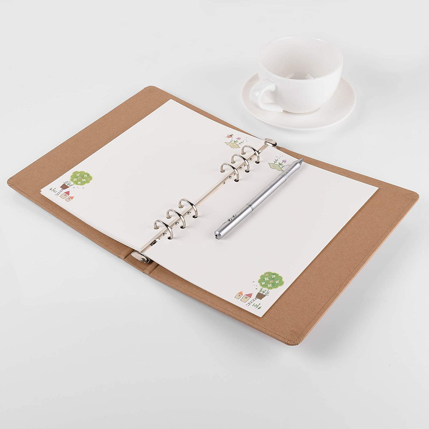 A5,Blank/&Line Bluecell 2 Sets 6-Holes Planner Refill Paper for 6-Ring Binder Filofax Notebooks Travel Diary Journal Planner