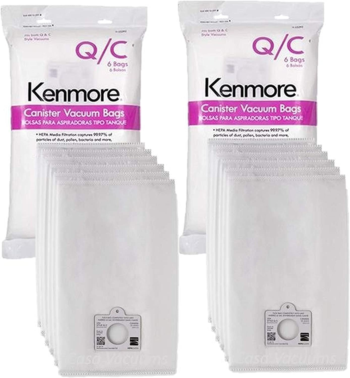 5055 50557 and 50558 Panasonic Type C-5 Models 15 Pack EnviroCare Replacement Micro Filtration Vacuum Bags to fit Kenmore Canister Type C//Q