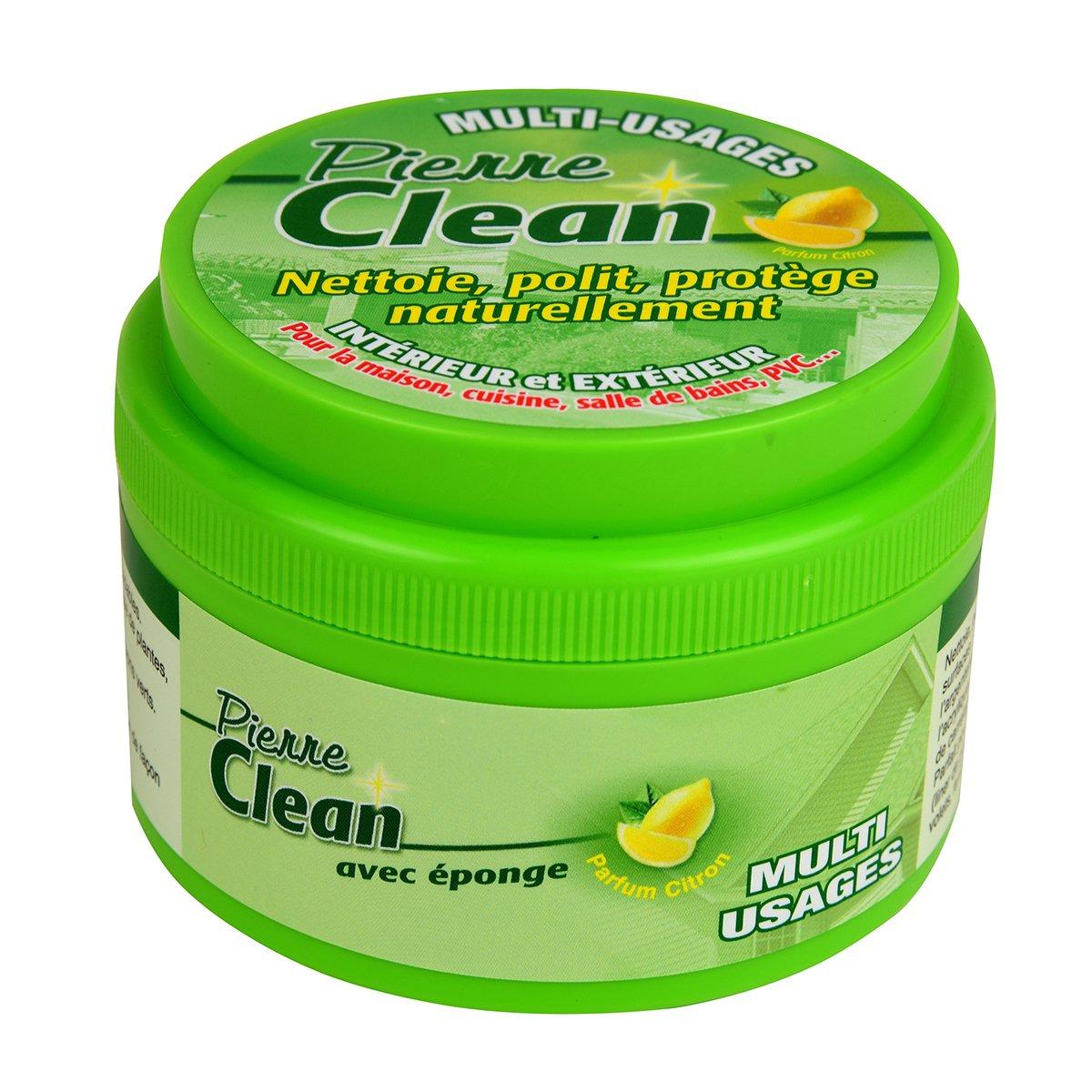 Pierre Clean 600 G aroma limón con esponja – Producto a base de arcilla, appelé aussi Pierre rénovante o piedra de barro, que permite de limpiar, ...