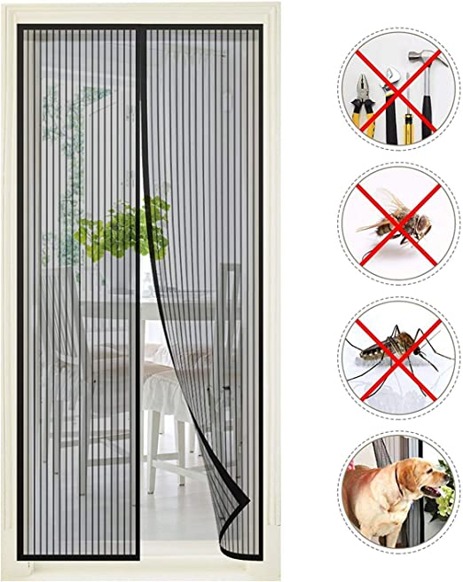 Anti-Moustique auto-adhésif filet À faire soi-même Rideau INSECTE MOUCHE MOUSTIQUE Fenêtre écran