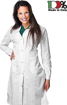 AIESI® Bata de Laboratorio Medico para Mujer blanco de algodón 100% sanforizado MADE IN ITALY talla 52: Amazon.es: Bricolaje y herramientas