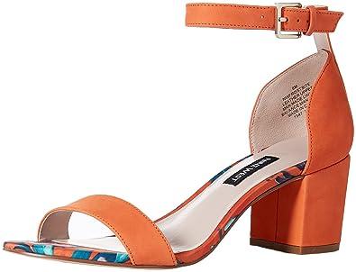 d7269730356 Nine West Women s Frostbite Nubuck Heeled Sandal Orange