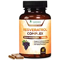 Pure Resveratrol - Extra Strength 1800mg Per Serving - Made in USA - Potent Antioxidant...