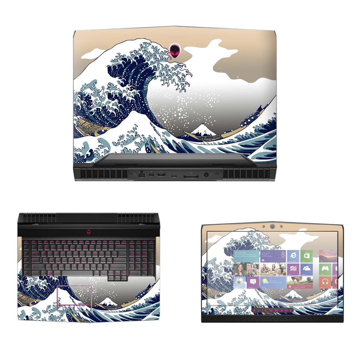 Decalrus - Protective Decal Skin skins Sticker for 2016 Alienware 17 R4 with G Sync (17.3'' Screen) case cover wrap AL2016alienware17-99