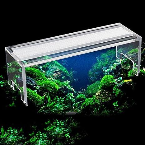 Luz LED para acuario de peces Lámpara de hierba acrílica ligera 45cm
