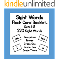 Sight Words: Flash Card Booklet (English Edition)