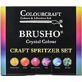 Brusho Crystal Colours Craft Spritzer Set 6/Pkg-
