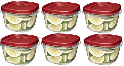 Rubbermaid 7J60 Easy Find Lid Square 2-Cup Food Storage (Pack of 6 Containers & Amazon.com: Rubbermaid 7J60 Easy Find Lid Square 2-Cup Food Storage ...