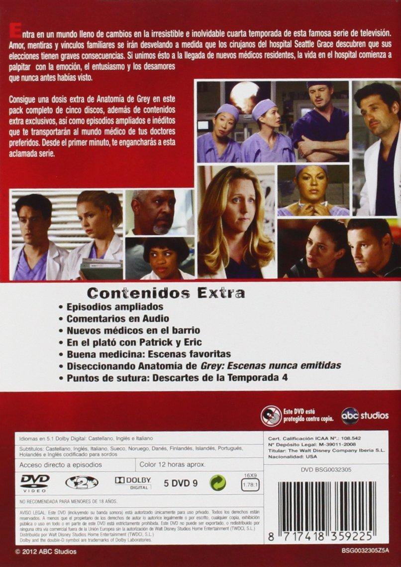 Anatomía De Grey - Temporada 4 [DVD]: Amazon.es: Ellen Pompeo ...