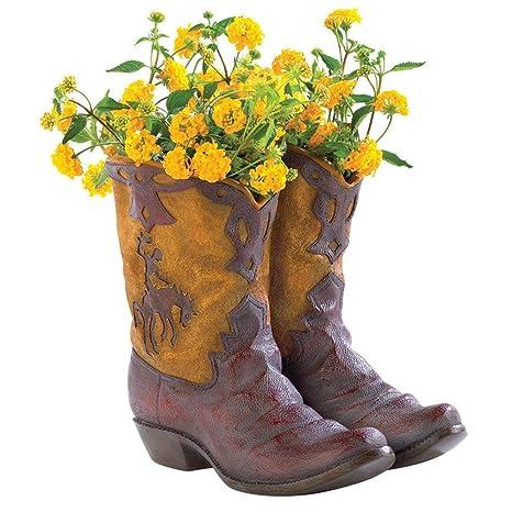 1f96bd928ed Amazon.com: Lpha' US 38447 Countryside Rustic Cowboy Boot Planter ...