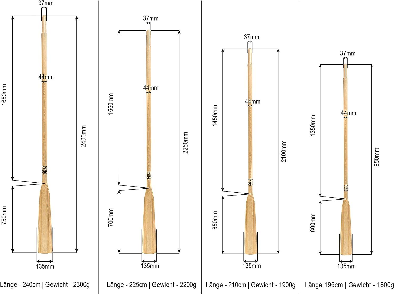 2 St/ück 2 Ruderlager + 2 Kragen John Paddle Set:1 Paar Holzruder Bootsriemen H/öchste Qualit/ät aus Edelstahl EU /ökologische Produktion 2 Ruderdollen