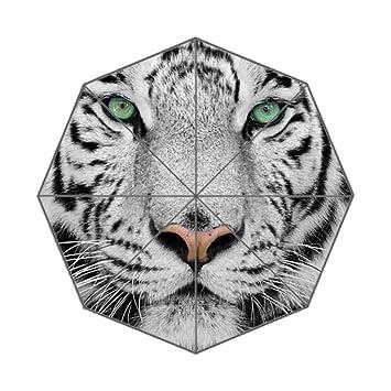 Xinzuo tigre blanco paraguas plegable Viajes al Aire Libre anti-UV paraguas