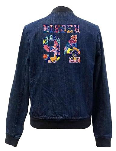 Bieber 94 Flowers Bomber Chaqueta Girls Jeans Certified Freak