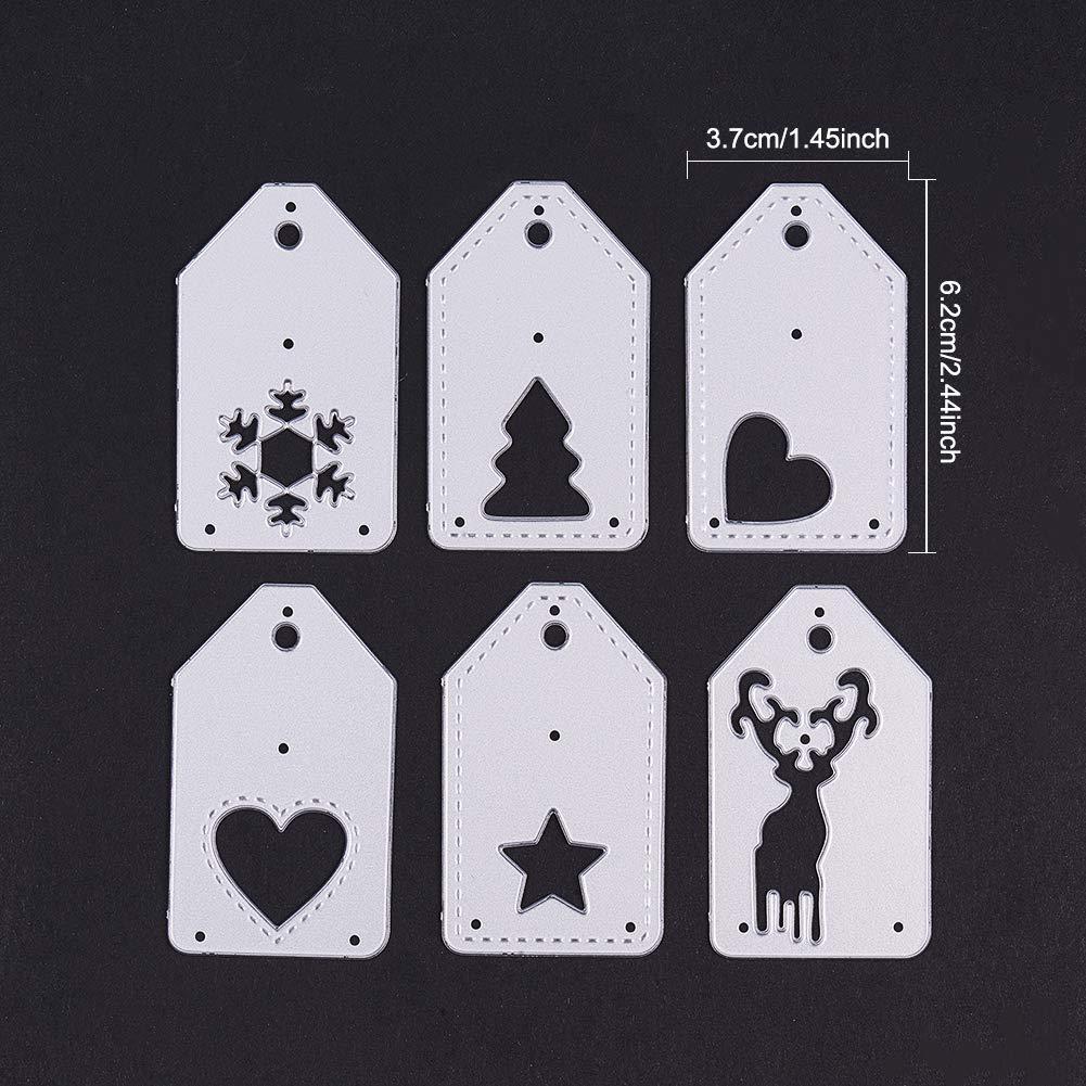 BENECREAT 26 Letter Cutting Dies A-Z Cut Metal Scrapbooking Stencils Nesting Die for DIY Embossing Photo Album Decorative DIY Paper Cards Making