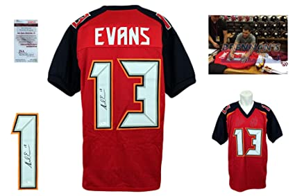 5f453087 Image Unavailable. Image not available for. Color: Mike Evans Signed Custom  Jersey - JSA Witnessed - Autographed - Pro Style ...