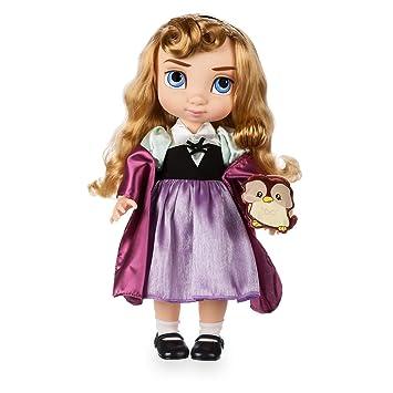 Disney Muñeca de Aurora de la Colección Animators 39cm con un peluche acolchado de raso del