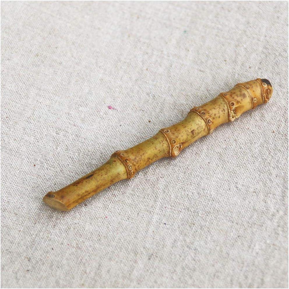 LUCKFY Hecho a Mano de bambú Pipe pisón de bambú Raíz Barras de la presión de la Personalidad Fumadores Útiles de Limpieza para Tabaco de Pipa