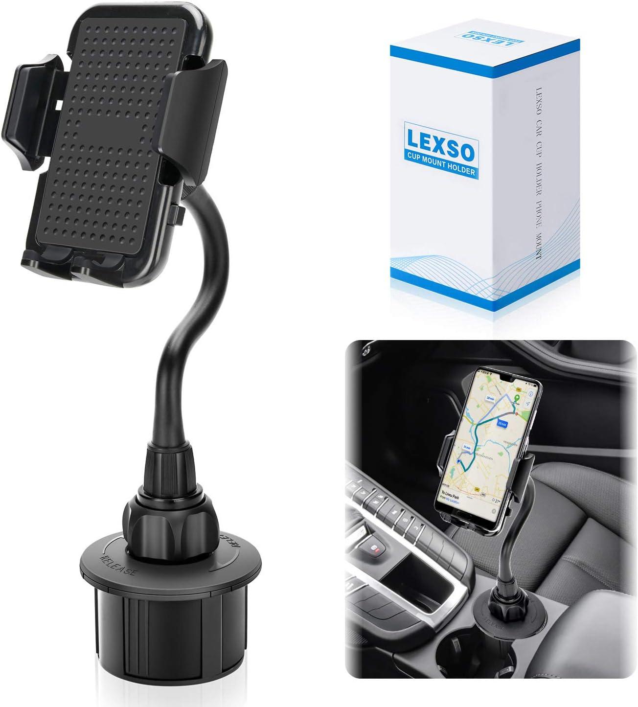 Amazon.com: Car Cup Holder Phone Mount,Universal Smart Adjustable ...