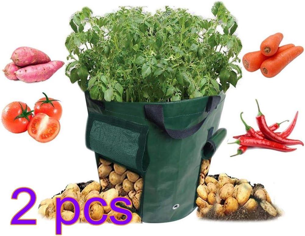 LWAN3 bolsa de cultivo de plantas, 15 galones de doble cara para ...