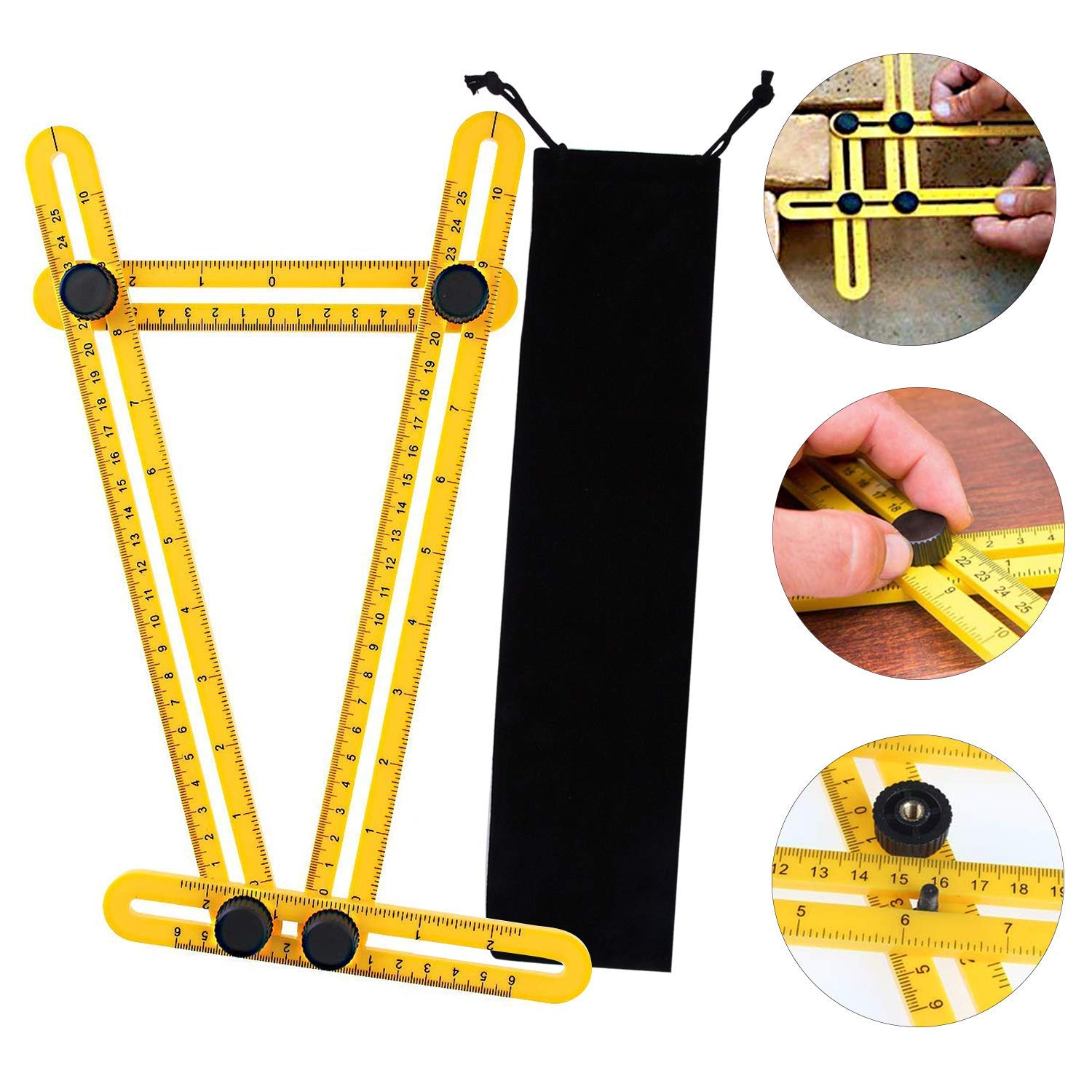 Multi Angle Measuring Ruler, Ultimate Template Tool Angle Measurement Tool for Craftsmen, Builders & Handymen