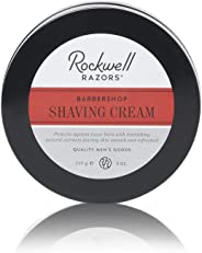 Rockwell Shave Cream for Men - Barbershop Scent - Rich & Thick Lather for All Skin and Stubble Types with Coconut Oil and Alo
