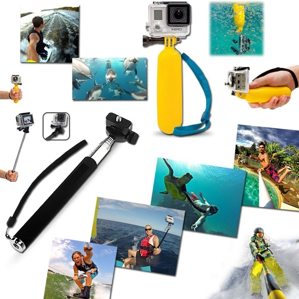 Kit For GoPro Accessories Session Hero 3-4-5 Go Pro sj4000 sj5000 Equipment Case Bundle Bag Pack - Selfie Stick Pole Tripod Gear Grip Mount Suction Cup With Waterproof case; 42 Pieces in One Bag by LightInTheBox