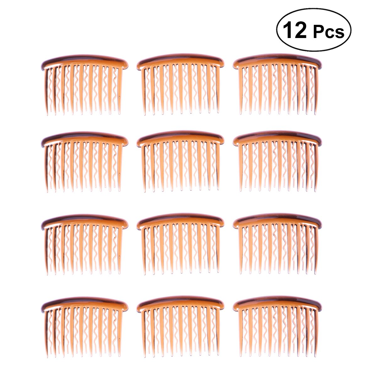 Frcolor Plastic Hair Clip Combs,17 Teeth Hair Side Comb for Fine Hair(12Pcs)