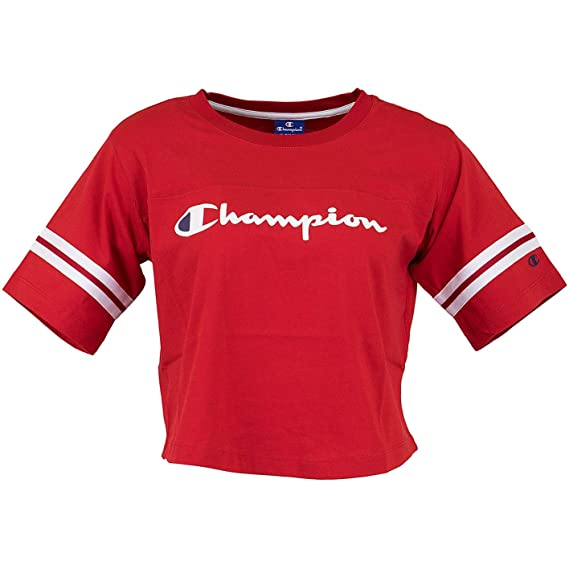 Champion T Shirt Femme Rouge 111380rs010 Amazonfr