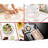 Large Thick Non-Stick Silicone Baking Mat – Heat Resistant | BPA Free | Easy To Clean Silicone Mat | Counter Mat/ Dough…