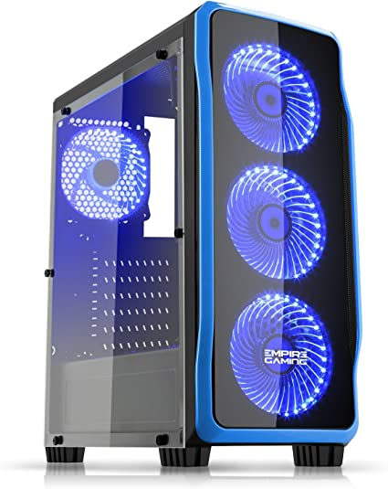 EMPIRE GAMING - Caja PC para Juegos DarkRaw Negra LED Azul: USB ...