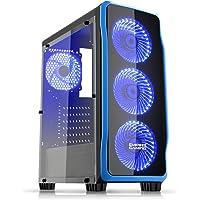 EMPIRE GAMING-PC DarkRaw zwart LED: USB 3.0 en USB 2.0, 4 x 120 mm LED-ventilator + ventilatorbesturing, 100…