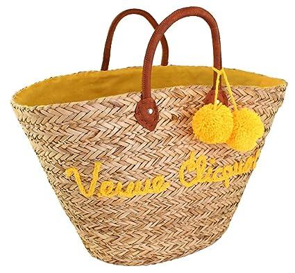 c8a8f559a6aa Amazon.com: Veuve Clicquot Shopping Bag Seagrass Nature Market ...