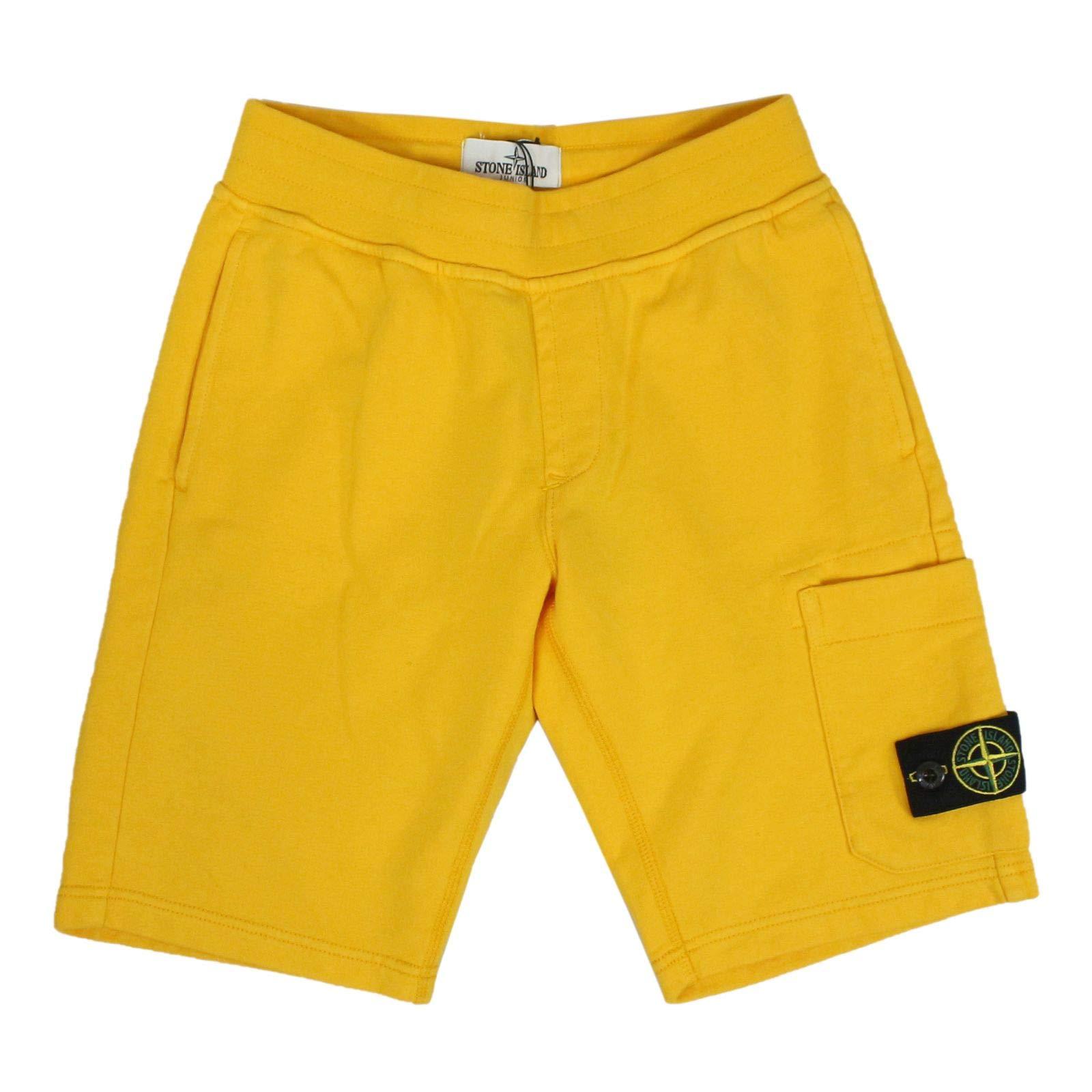 Stone Island Boys 701660740V0030 Yellow Cotton Shorts