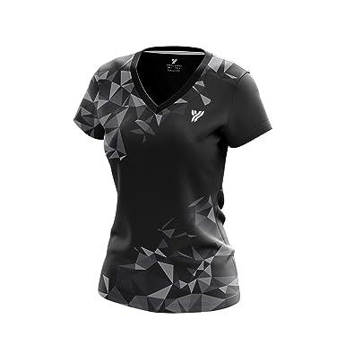 a28e47a0 Amazon.com: YANG-YANG Women's Short Sleeve Badminton T-Shirt Tournament Tee  100% Polyester: Clothing